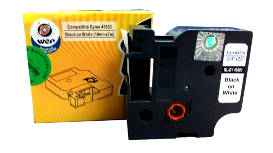 WeP compatible Label Tape for DYMO 45803 S0720830 Black on White (19x7) चे चित्र